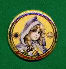 """Fredericksburg STYLE  Brewery Lager  Beer Tray Ad RP *PIN*  """"Girl in Cape"""""""
