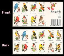 US 4882c-4891c Songbirds imperf NDC booklet 20 MNH 2014