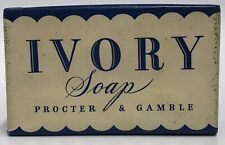 Vintage WW2 Era 1943 Original Procter & Gamble Large 8oz Ivory Soap Bar Unopened