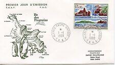 FDC / T.A.A.F. TERRES AUSTRALES TIMBRE PA N° 101 / ILE DES PINGOUINS