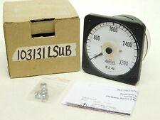 New Eaton 103131lsub Ampmeter 0 3200 Amperes Analog Panel Meter Gauge Vn