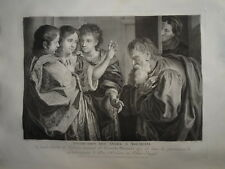 A. VERONESE (1578-1649) GRANDE GRAVURE XVIII° ABRAHAM JUDAICA ANGE DIEU RELIGION