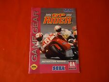 GP Rider Sega Game Gear Instruction Manual Booklet ONLY