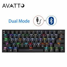 CK62 USB Wired Bluetooth Wireless Dual Mode Mechanical RGB Backlit Gaming New
