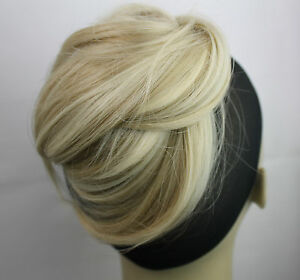 New Straight Clip in Synthetic Wired Wrap around hairpieces Bun Scrunchies Updo