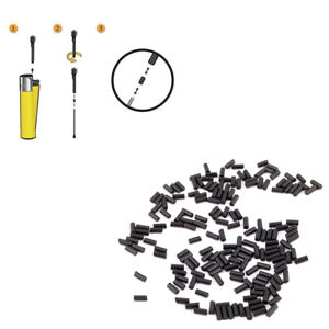 Black Lighter Flints High Quality Universal Fits All Gas Refillable Lighters UK