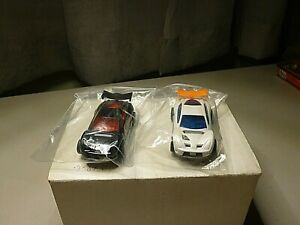 NEW TYCO MATTEL 440X2 TEAM HOT WHEELS RALLY SET CARS WITH NO DECALS NEW IN BAG