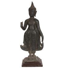 Thailand 16./17. Jhd. An Antique Thai Bronze Standing Figure of Buddha - Bouddha