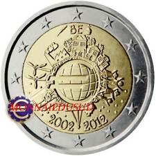 2 Euro Commémorative Belgique 2012 - 10 Ans de l'Euro TYE