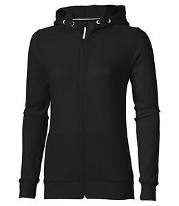 Asics Women's Training Hoodie Full Zip Long Sleeve - Black - New