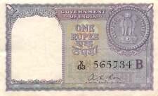 India   1  Rupee  1957  P 75c  Series X/63  Circulated Banknote WKM