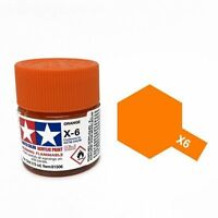 TAMIYA X6 COLORE ACRILICO LUCIDO ARANCIONE ORANGE MINI 10 ML  ART 81506