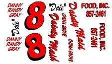 #8 Dale Earnhardt Dainty Maid 1965 Chevelle 1/64th Ho Scale Slot Car Decals