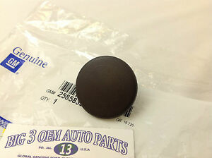 Chevrolet Tahoe Suburban GMC Yukon Brown Rear Armrest Seat Bolt Cover CAP new OE