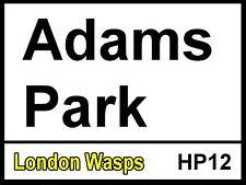 Londra VESPE Adams Park Street Sign / METAL ALLUMINIO / RUGBY