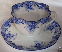 SHELLEY ENGLAND FINE BONE CHINA DAINTY BLUE CUP & SAUCER SET!