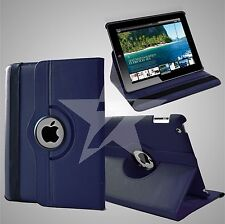 """Leather 360 Degree Rotating Smart Stand Case for Apple iPad Air 4 3 2 Mini 2017 Navy Blue iPad Pro 9.7"""" 2016"""