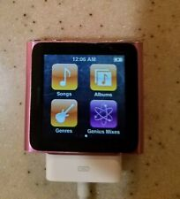 Genuine Apple iPod Nano 6th Generation 8gb Touch Screen Pink Read