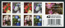 Usa 2017 Mnh Flowers from Garden 20v S/A Booklet Plants Nature Stamps