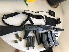 LCT Airsoft TK-104 Assault Rifle AEG w/ Folding Stock - BLACK