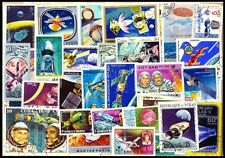 Space On Stamp - 100 Different Large-Worldwide Thematic Mostly Used Stamps