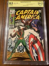 CAPTAIN AMERICA #117 9/69 CBCS 8.5 OWW SS STAN LEE!!  FIRST FALCON! SIGNED KEY