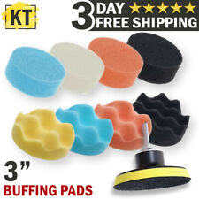 Polishing Waxing Buffing Pad Sponge Kit Set for Car Polisher 3 inch Buffing Pads