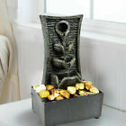 Tiers Indoor Fountain Water Feature Led Lights Polyresin Statues Home Decoration