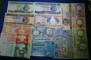 OCEANIA LOT: 15 BANKNOTES mainly UNC diff. countries --> see many more auctions