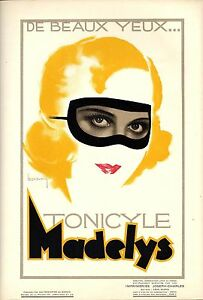 Original vintage poster print TONICYLE MADELYS BEAUTY CARE 1936