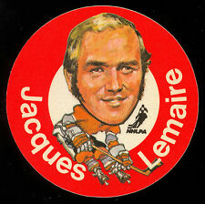 1973-74 MAC'S MILK NHL JACQUES LEMAIRE CANADIENS NM CLOTH STICKER HOCKEY DISC