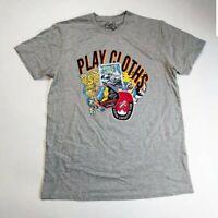 Play cloths Men 100% authenitc S/S t-shirt size large gray logo