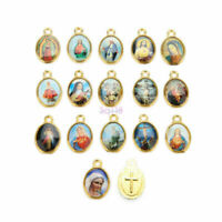 100Pcs High Quality Catholic Holy Religious Crosses Enamel Medals Charms Pendant