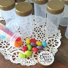 20 New USA empty Party Favor Jars Supplies 1 ounce plastic Gold Screw Cap #K3314