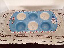 Temptations By Tara Bakeware Cupcake Muffin Pan Snowflakes Snowman Candy Cane