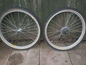 Mavic m 400 rims on exage hubs ritchey z max tyres retro mountain bike 90s