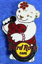 UNIVERSAL OSAKA VALENTINE'S LOVE HEARTS DRESS POLAR BEAR GIRL Hard Rock Cafe PIN