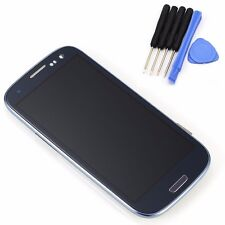 Blue For Samsung Galaxy S3 i9300 LCD Display Touch Screen Glass Digitizer &Frame