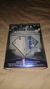 White Glo Teeth Whitening System/kit: Whitening Gel, Toothpaste, Mouth Tray