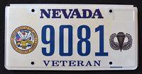 "NEVADA "" ARMY AIRBORN VETERAN "" RARE "" NV Military Specialty License Plate"