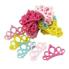 30 Pcs Mixed Color Hair Clips Girls Princess Crown Sequins Head Accessories