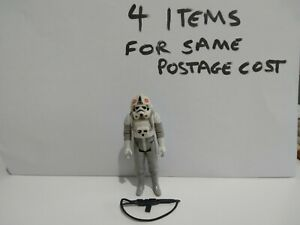 Vintage Star Wars GOOD SLIGHT WEAR AT-AT Driver Figure Complete Repro Weapon