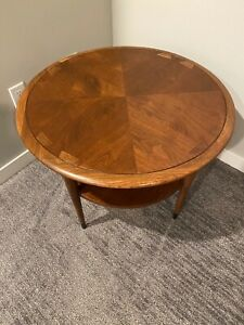 Lane Acclaim Round Lamp Table Mid Century MCM Danish Modern