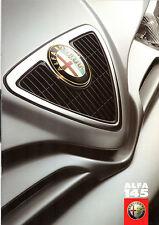 Alfa Romeo 145 1999-2001 UK Market Sales Brochure 1.6 TS 1.8 TS 2.0 Cloverleaf