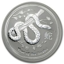 2013 Australia 1 oz Silver Year of the Snake BU