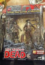 The Walking Dead Bloody B&W Rick and Michonne Action Figure Comics