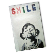 UK Graffiti Artist Bansky Little Girl In Tank Top Smile 11x17 Poster