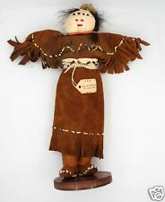 Fine Early Antique Authenic Native American Sioux SD Doll Museum Deaccession