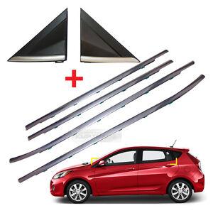 OEM Parts Chrome Door Belt 4P +  A Pillar 2P for HYUNDAI 2012-2016 Elantra GT