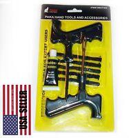8PC Set. Car Tubeless Tire Repair Plugs Kit Rasp Needle Patch Fix Tools Cement